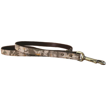 Earth Camouflage Leather Dog Collar & Leash