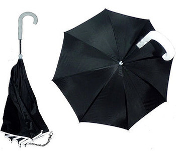 Dog Walking Umbrella w/ Reflective Lining & Leash Holder