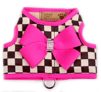 Windsor Check Contrasting Trim Bailey II Dog Harness - Pink Sapphire