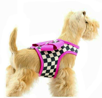 Windsor Check Contrasting Trim Bailey II Dog Harness - Pink Sapphire