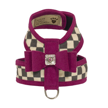 Windsor Check Contrasting Trim Tinkie Dog Harness - 30+ Colors