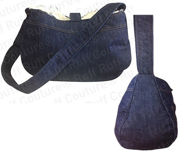 Denim Love w/ Black Lining - Large Original Dog Snuggle Sack
