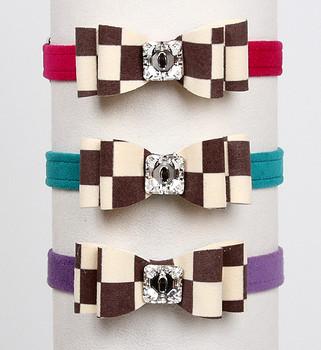 Windsor Check Really Big Bow Dog Collars by Susan Lanci - 2