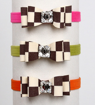 Windsor Check Really Big Bow Dog Collars by Susan Lanci - 3