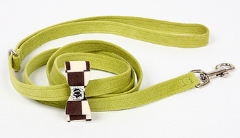 Windsor Check Big Bow Dog Leads by Susan Lanci