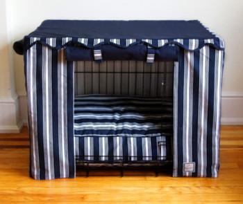 Crate Cover - Nautical Stripe & Optional Bed
