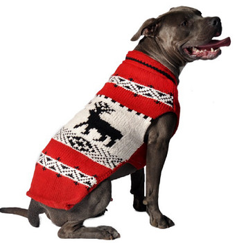 Red Reindeer Knit Dog Sweaters