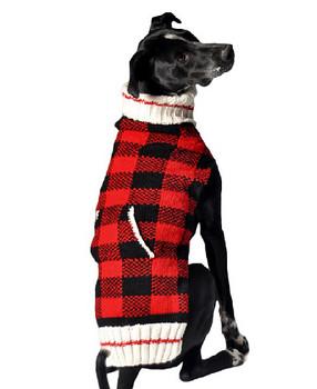 Buffalo Plaid Knit Dog Sweaters