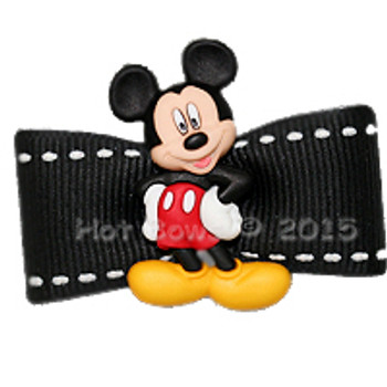 Dog Bow Barrette  - It's Mickey