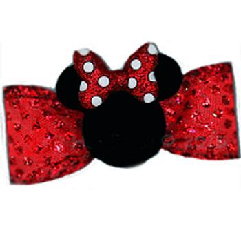 Dog Bow Barrette  - Minnie Mouse Ears