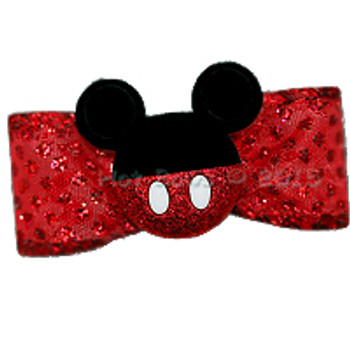 Dog Bow Barrette  - Mickey Mouse Ears