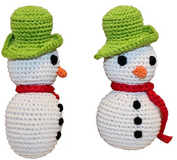 Frosty Snowman Organic Cotton Dog Toy