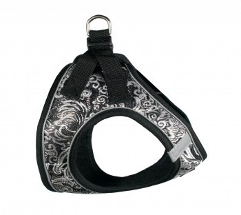 EZ Reflective Royal Elegance Dog Harness Vest - Black