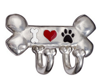 Pewter Bone Leash - Heart / Paw / Bone