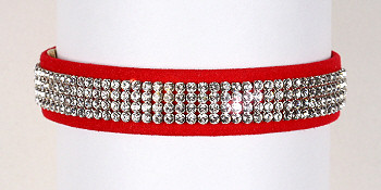 Wide 4 Row Giltmore Dog Collar - Susan Lanci