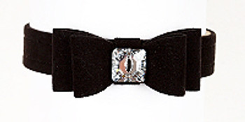 Wide Big Bow Dog Collar - Susan Lanci