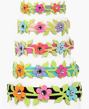 "Secret Garden Collection 1/2"" Ultra Suede Dog Collars"