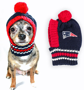 NFL New England Patriots Knit Dog Ski Hat