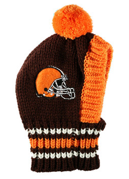 NFL Cleveland Browns Knit Dog Ski Hat