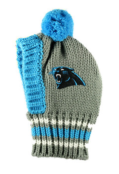 NFL Carolina Panthers Knit Dog Ski Hat