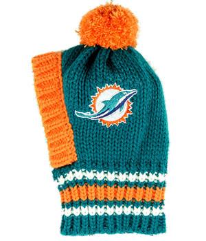 NFL Miami Dolphins Knit Dog Ski Hat
