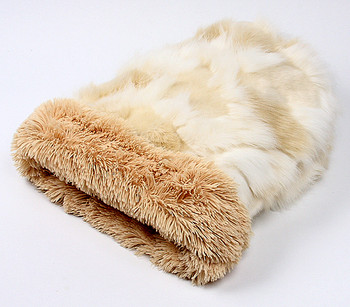 Cuddle Cup - Cream Fox w/ Camel Shag by Susan Lanci Designs