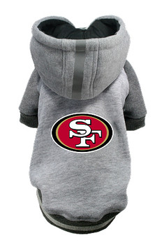 NFL San Francisco 49ers Licensed Dog Hoodie - Small - 3X