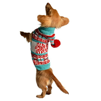 Peppermint Hoodie Hand Knit Dog Sweaters
