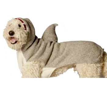 Shark Hoodie Hand Knit Dog Sweaters