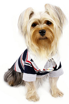 Four Stripe Polo Dog Shirt