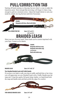 Instrctions for Braided Leather Dog Leads