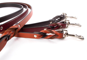 Braided Leather Dog Leashes 2