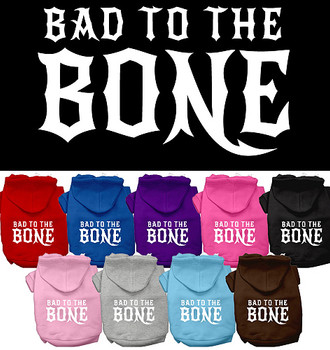 Bad to the Bone SP Dog Hoodies