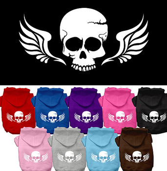 Skull Wings Dog Hoodies
