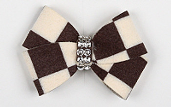 Windsor Check Nouveau Bow Hair Barrette