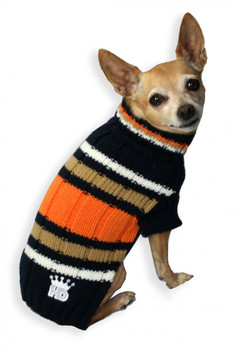 HD Navy Dog Turtleneck Sweater