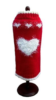 Red Fluffy Sweetheart Dog Sweater