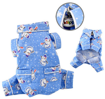 Snowman & Snowflake Flannel Pajamas with 2 Pockets