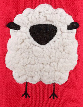 Cute Baa Sheep Dog Sweater by Worthy Dog - 2XL