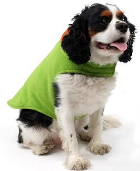 Fargo Fleece Pet Dog Jacket Coat - Multi Check & Green