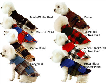 Double Fleece Dog Coats w/ Pockets, Large Dogs Too - 9 Selections