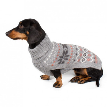 Alpaca Dog Sweater - Frozen Snowflake Grey