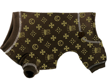 HD Crown Brown Long Johns Dog Pajamas
