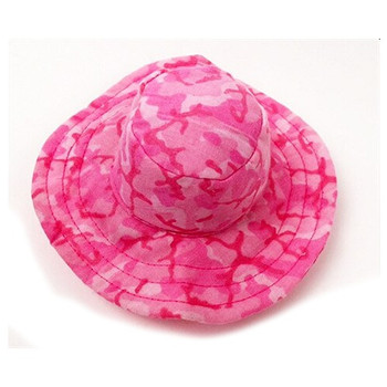 Camo Dog Bucket Style Hat - Pink