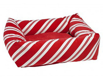 Peppermint Stripe Microvelvet Dutchie Bed