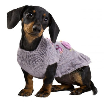 Alpaca Dog Sweater Dress - Forever Roses
