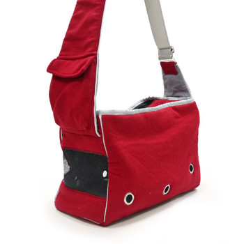 Boxy Messenger Dog Tote Bag - Black or Red