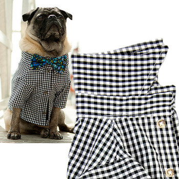 Port Black Gingham Dog Shirt