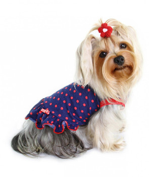 Little Bettie Polka Dot Dog Dress