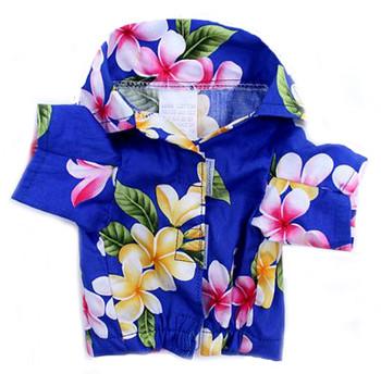 Royal Blue Hawaiian Dog Shirt